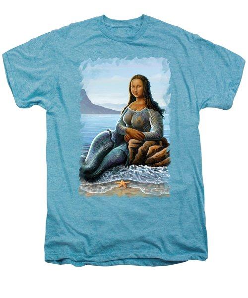 Monalisa Mermaid Men's Premium T-Shirt by Anthony Mwangi