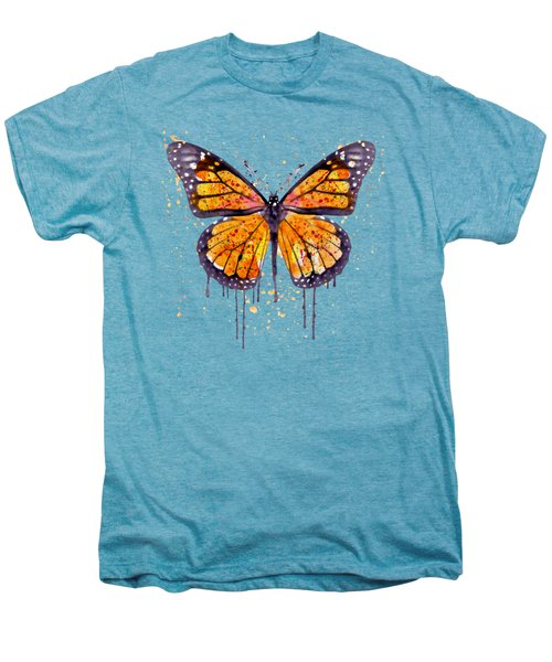 Monarch Butterfly Watercolor Men's Premium T-Shirt by Marian Voicu