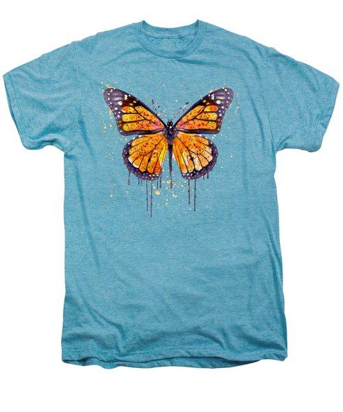 Monarch Butterfly Watercolor Men's Premium T-Shirt