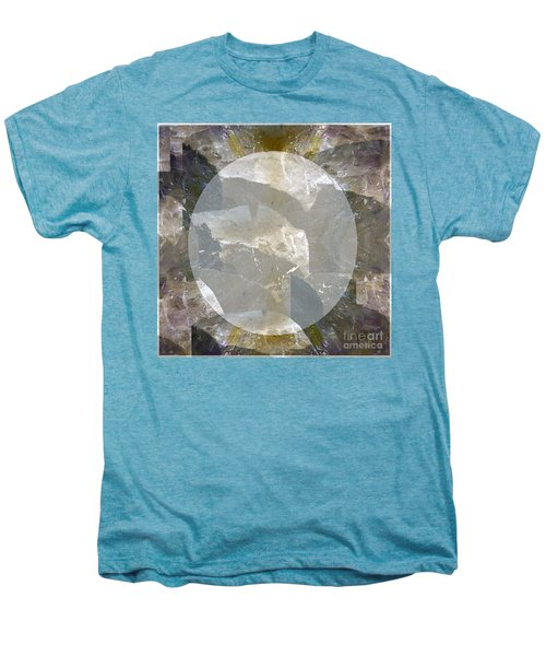 Moon Art On Stone Digital Graphics By Navin Joshi By Print Posters Greeting Cards Pillows Duvet Cove Men's Premium T-Shirt