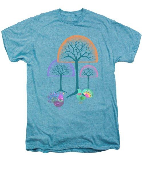 Moon Bird Forest Men's Premium T-Shirt by Little Bunny Sunshine