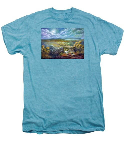 Moonlight Rendezvous Men's Premium T-Shirt