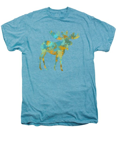 Moose Watercolor Art Men's Premium T-Shirt