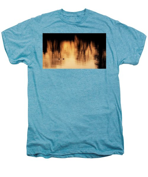Men's Premium T-Shirt featuring the photograph Morning Ducks 2017 by Bill Wakeley