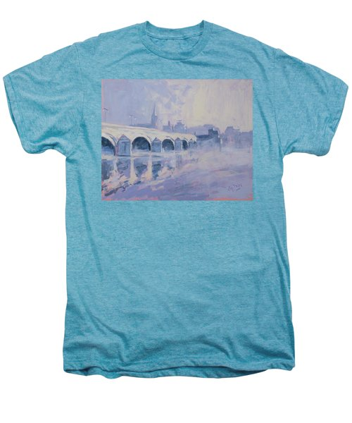 Morning Fog Around The Old Bridge Men's Premium T-Shirt by Nop Briex