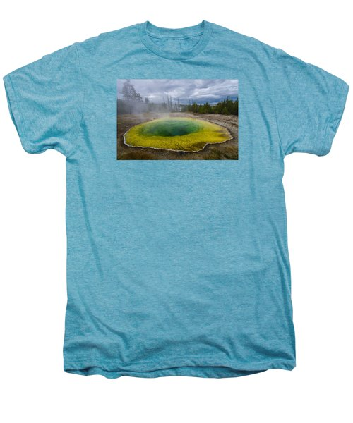 Men's Premium T-Shirt featuring the photograph Morning Glory Pool by Gary Lengyel