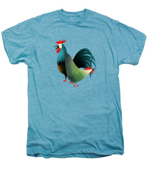 Morning Glory Rooster And Hen Wake Up Call Men's Premium T-Shirt