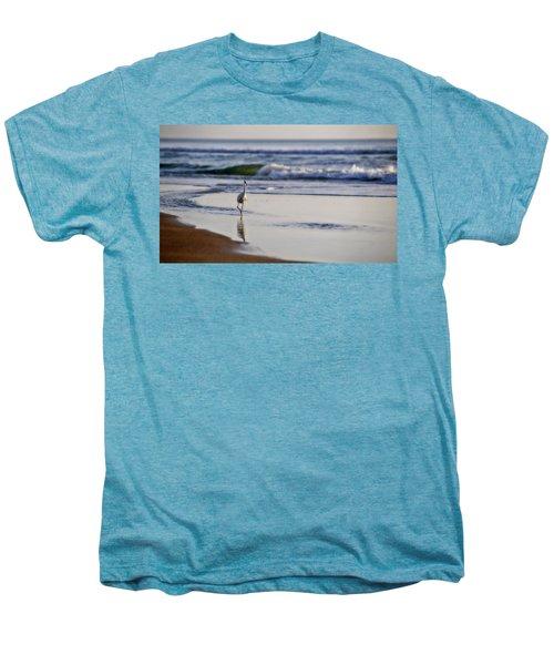 Morning Walk At Ormond Beach Men's Premium T-Shirt