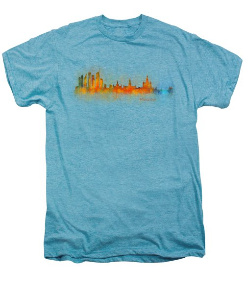 Moscow City Skyline Hq V3 Men's Premium T-Shirt by HQ Photo