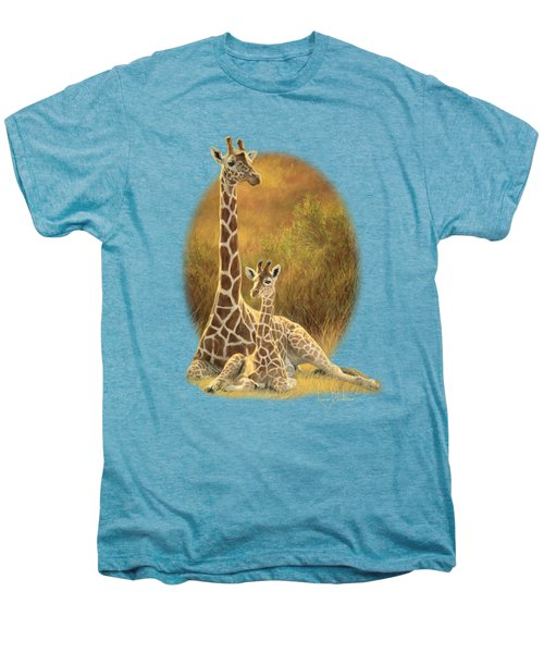 Mother And Son Men's Premium T-Shirt by Lucie Bilodeau