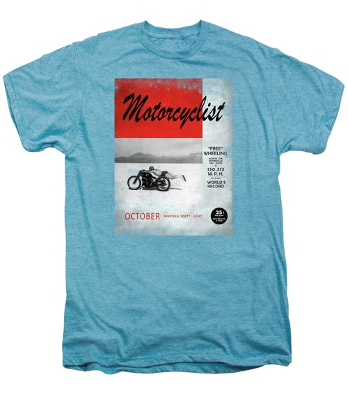 Motorcyclist Magazine - Rollie Free Men's Premium T-Shirt by Mark Rogan