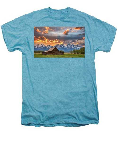Moulton Barn Sunset Fire Men's Premium T-Shirt