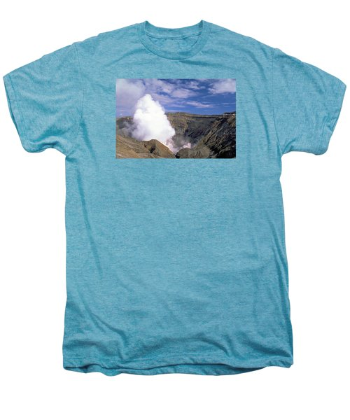 Men's Premium T-Shirt featuring the photograph Mount Aso by Travel Pics