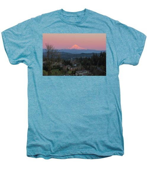 Mount Hood Over Happy Valley Oregon Men's Premium T-Shirt