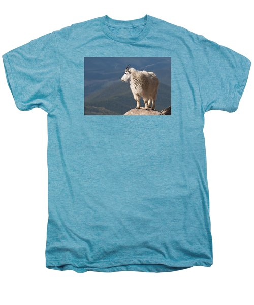 Men's Premium T-Shirt featuring the photograph Mountain Goat by Gary Lengyel