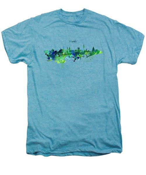 Munich Skyline Silhouette Men's Premium T-Shirt by Marian Voicu