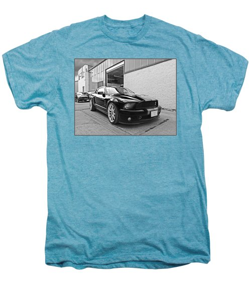 Mustang Alley In Black And White Men's Premium T-Shirt by Gill Billington