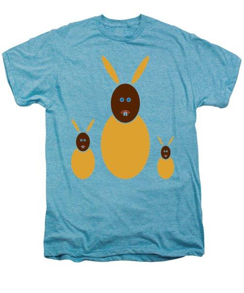 Mustard Bunnies Men's Premium T-Shirt by Frank Tschakert
