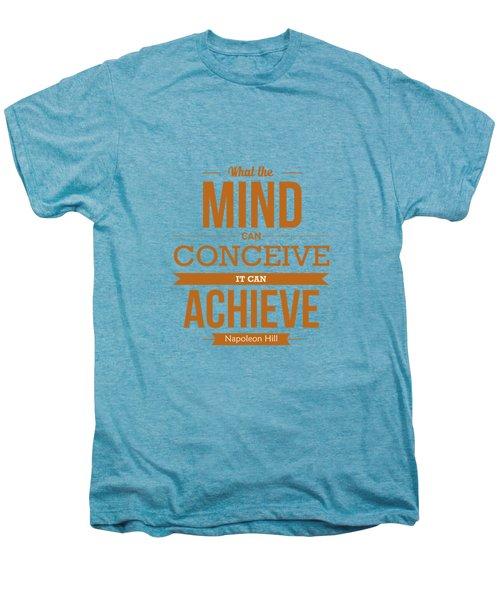 Napoleon Hill Typography Art Quotes Poster Men's Premium T-Shirt