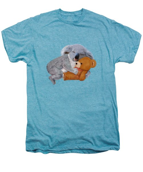 Naptime With Teddy Bear Men's Premium T-Shirt by Glenn Holbrook