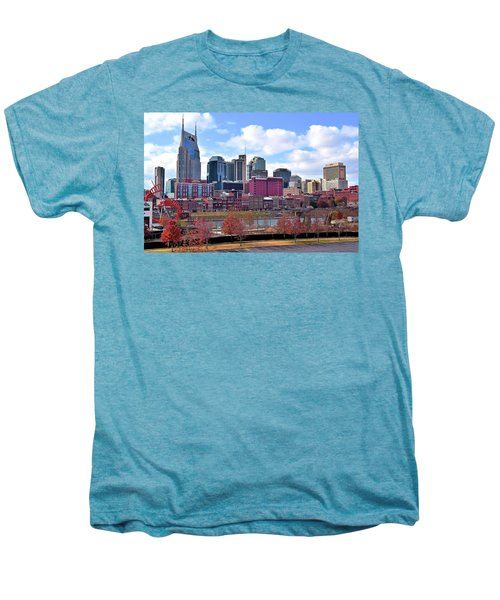Nashville On The Riverfront Men's Premium T-Shirt by Frozen in Time Fine Art Photography