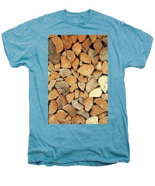 Natural Wood Men's Premium T-Shirt by AugenWerk Susann Serfezi