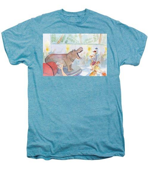 Natural History Hippo Men's Premium T-Shirt