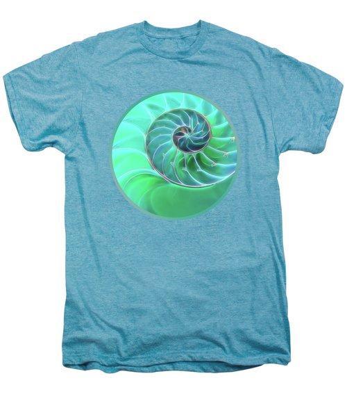 Nautilus Aqua Spiral Men's Premium T-Shirt