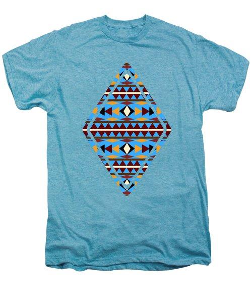 Navajo Blue Pattern Art Men's Premium T-Shirt by Christina Rollo