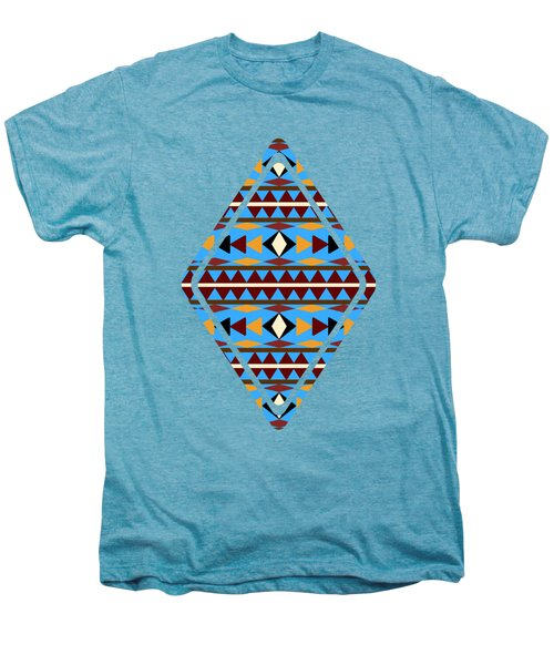 Navajo Blue Pattern Art Men's Premium T-Shirt