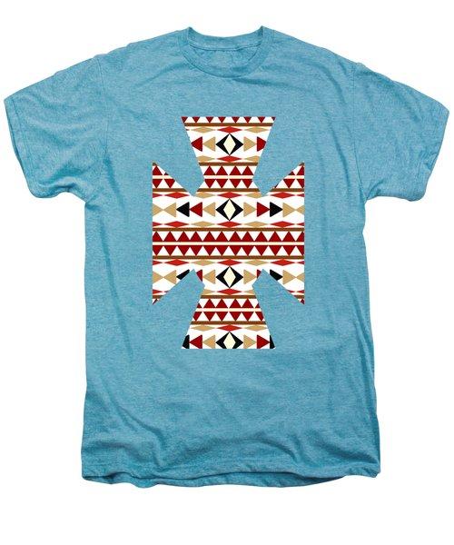 Navajo White Pattern Art Men's Premium T-Shirt by Christina Rollo