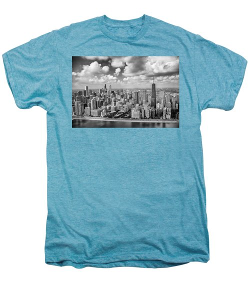 Men's Premium T-Shirt featuring the photograph Near North Side And Gold Coast Black And White by Adam Romanowicz