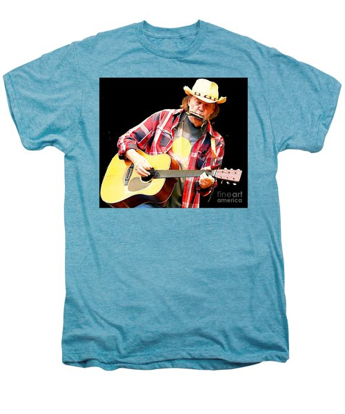 Neil Young Men's Premium T-Shirt by John Malone