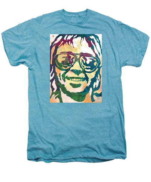 Neil Young Pop Stylised Art Poster Men's Premium T-Shirt by Kim Wang