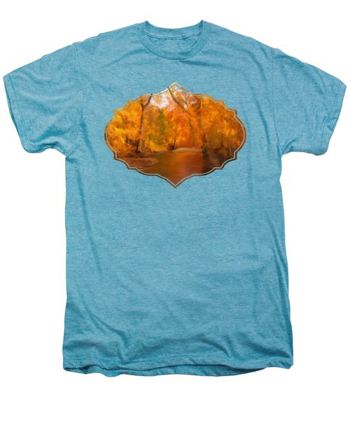 New England Autumn In The Woods Men's Premium T-Shirt by Becky Herrera