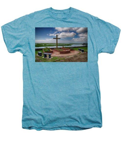 New Garden Cross At Belin Umc Men's Premium T-Shirt