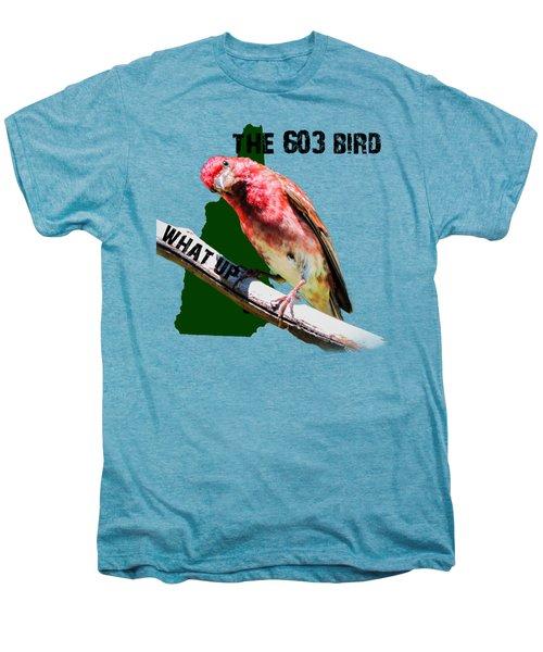 New Hampshire State Bird The Purple Finch Men's Premium T-Shirt by Mim White