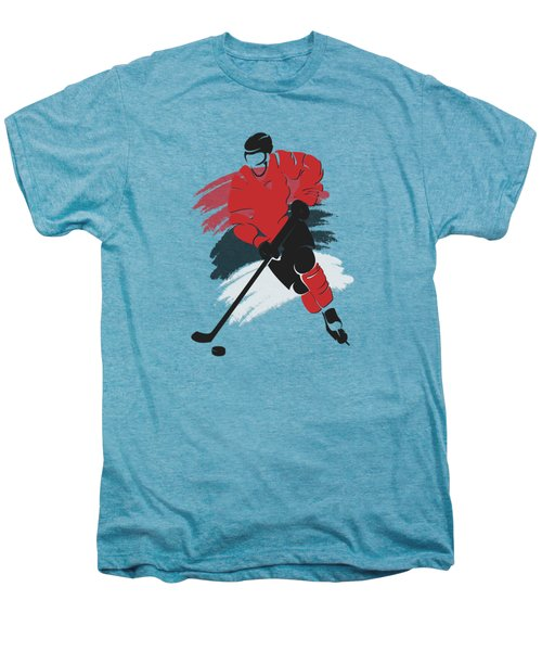 New Jersey Devils Player Shirt Men's Premium T-Shirt by Joe Hamilton