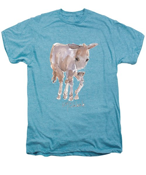New Pasture Boss Men's Premium T-Shirt by Kathleen McElwaine