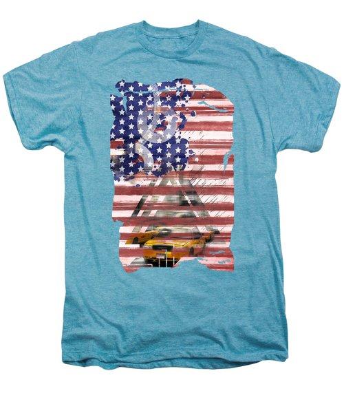 New York City Geometric Mix No. 8 Men's Premium T-Shirt by Melanie Viola