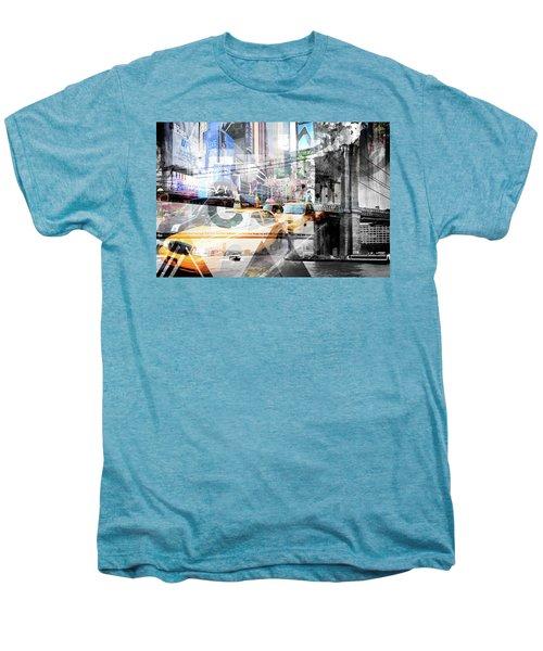 New York City Geometric Mix No. 9 Men's Premium T-Shirt