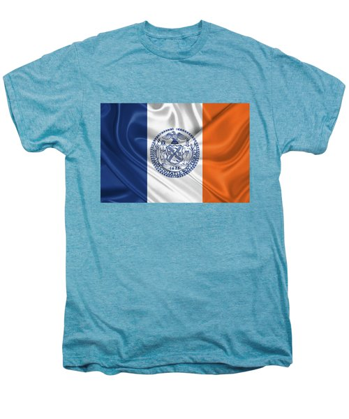 New York City - Nyc Flag Men's Premium T-Shirt by Serge Averbukh