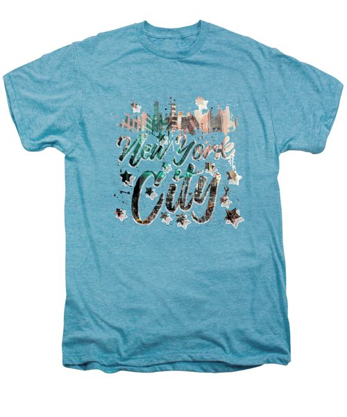 New York City Typography - Geometric Mix No. 4 Men's Premium T-Shirt