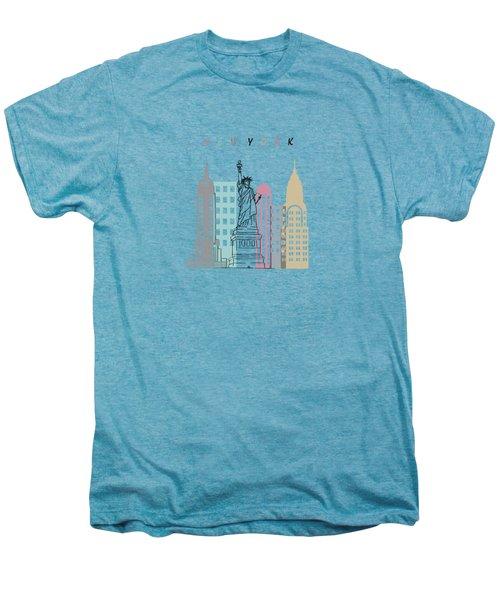 New York  Minimal  Men's Premium T-Shirt