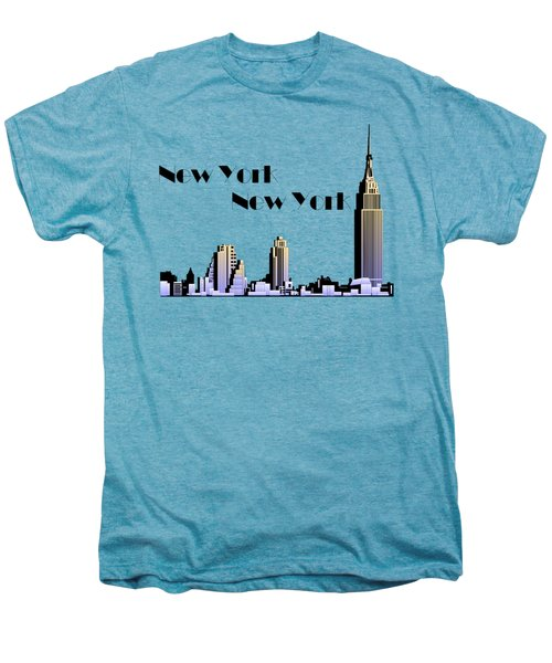 New York New York Skyline Retro 1930s Style Men's Premium T-Shirt