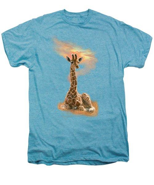 Newborn Giraffe Men's Premium T-Shirt by Lucie Bilodeau