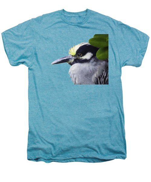 Night Heron Transparency Men's Premium T-Shirt by Richard Goldman
