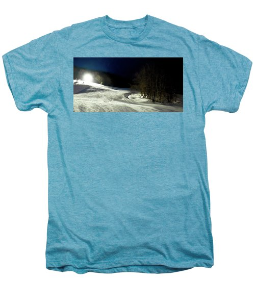 Men's Premium T-Shirt featuring the photograph Night Skiing At Mccauley Mountain by David Patterson