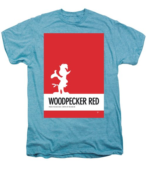 No12 My Minimal Color Code Poster Woody Woodpecker Men's Premium T-Shirt