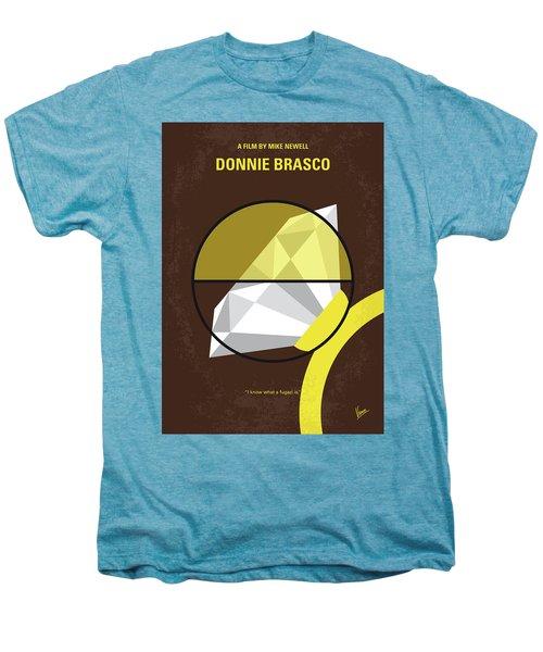 No766 My Donnie Brasco Minimal Movie Poster Men's Premium T-Shirt